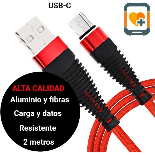 Cable USB-C 2 metros alta calidad