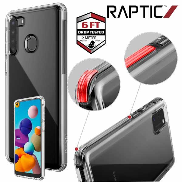 Carcasa Samsung A21s Raptic Clear